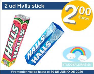 2 uds.Halls stick por 2€