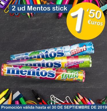2 uds. mentos stick a 1,50€