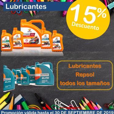 15% dcto. lubricantes Repsol